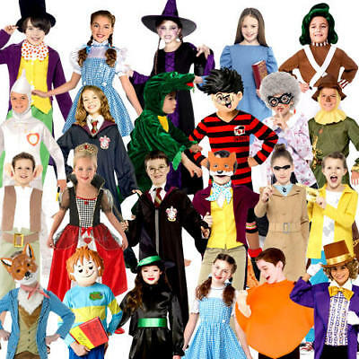 World Book Day Story Characters Kids Fancy Dress Boys Girls Childrens Costumes