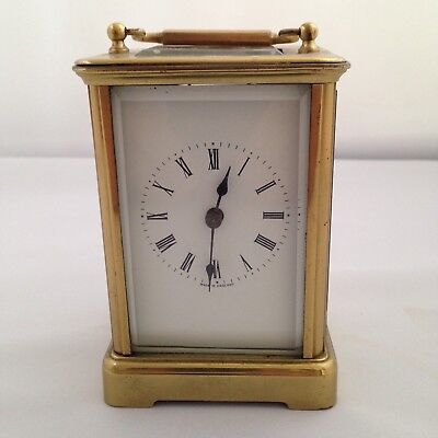 English 8 Day Brass Carrigage Clock - For Repair