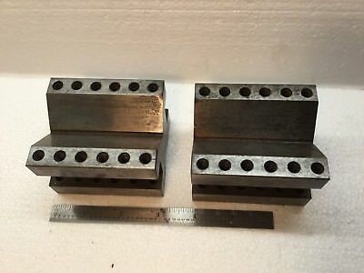2 Machinist Tool & Die Angled Setup Blocks - Both Identical 2 1/2x 3 In.