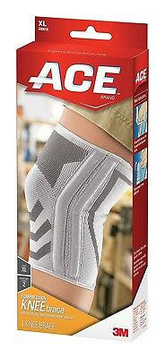 ACE Knitted Knee Brace with Side Stabilizers, Extra Large - Torn Packaging