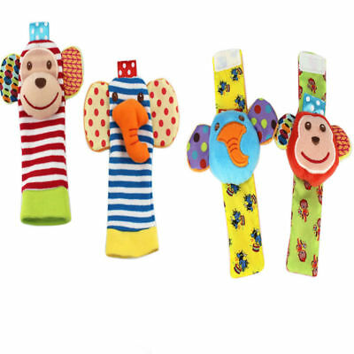 Lovely Rattle Set /Baby Sensory Toys Foot-finder Socks/Wrist Rattles Bracelet UK