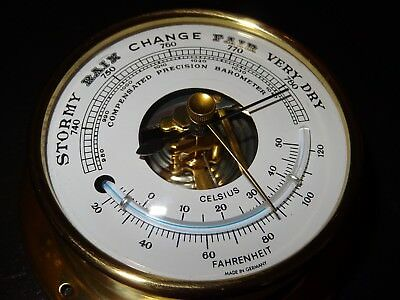 Thermometer Barometer Präzesion GERMANY Fahrenheit Celsius Marine Boot Manometer