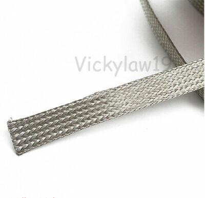3 meters Tinned Copper Metal Shielding Braided Sleeve 2mm 4mm 6mm 8mm 10mm~14mm