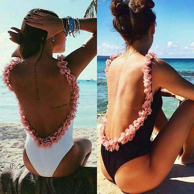 Sexy Women One-Piece Backless Bikini Bandage Monokini Swimsuit Bathing Swimwear