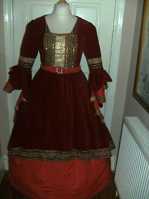 Ladies Medieval Theatrical Pantomime Dress Costume By Midland Theatre Stage Show