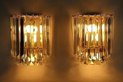 Pair Of Vintage Quality Regency Venini Style Lucite Wall Sconces (New Old Stock)
