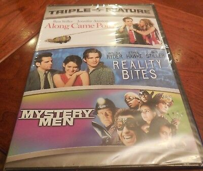 Along Came Polly/Reality Bites/Mystery Men (DVD, 2008, 3-Disc Set) NEW SEALED