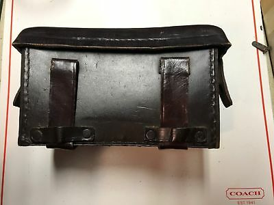 Wwii German Army & Drk /red Cross Medical Case Black Leather Ww2 First Aid Pouch