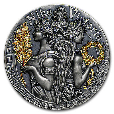 2018 Niue 2 oz Silver Antique Goddesses (Nike and Victoria) - SKU#166500