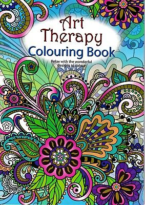 Art Therapy Floral Theme Colouring Book. Children's Adult Stress Relief Gift