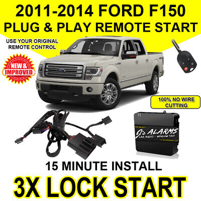 2011- 2014 Ford F-150 Remote Start Plug and Play Easy Install Truck F150 3X Lock