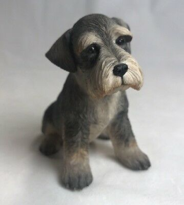 Schnauzer Puppy Sitting Figurine Country Artists for the Discerning 04917