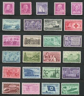US Postage Stamps 3 Cent Vintage Collection Of 25 Stamps 60-70 Years Old (V-3)