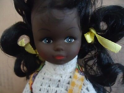 Vtg African American Black Girl Doll Joanna W Long Hair You Can