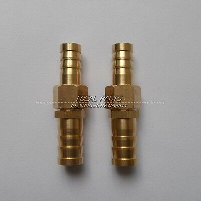 """2PCS Brass Barb 1/2"""" Hose ID to 3/8"""" Reducer Fitting Water Fuel Boat Splicer M41"""