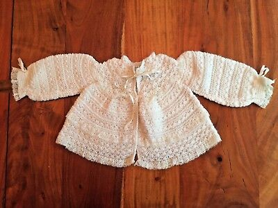 VINTAGE knit cream sweater baby girl SWEET MACYS NEW YORK made in Italy