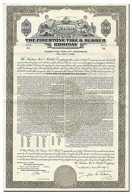 Firestone Tire & Rubber Company Bond Certificate