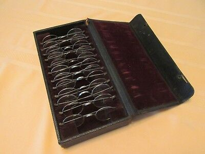 RARE Antique Opthamologist Optometrist Eyeglass Eye Exam Spectacles Doctor Set
