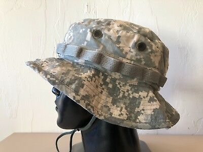 ~Us Army Combat Boonie Sun Hat 7 3/4 X-Large Acu Hot Weather Jungle Cover