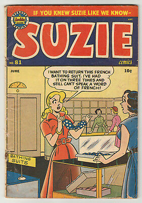 SUZIE COMICS 81 (1951 Archie) Katy Keene; Ginger; RARE; No CGCs;Only ebay; VG4.0