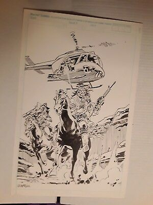 Original Comic Book Art GI Joe cover tryout Leonardi 1992