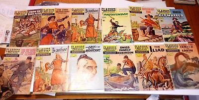#25.13 pc.Lot classics illustrated comics # 1,2,2,4,19,24,42,77,138,46,97,98,104