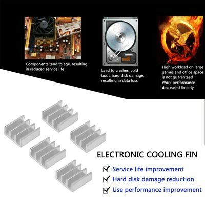 5pcs 11x11x5mm  Aluminum Heat Sink For Memory Chip HH