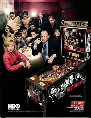 The Sopranos Stern Pinball Flyer Mint / Brochure / Ad