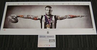 Dane Swan Collingwood Magpies Full Size Wings Limited Edition Afl Print Brownlow