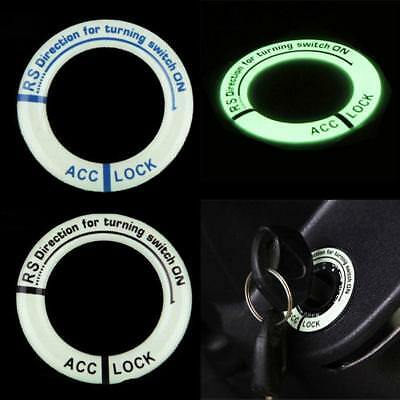 Night Vision Light Luminous Ignition Switch Sticker Glow Key Ring Hole Cover