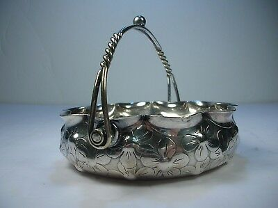 Lovely Antique WILCOX Silver Plate DAISY Serving Dish  with Twined Handle