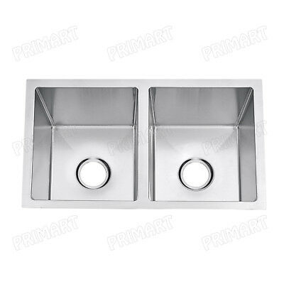 "Primart 27"" Inch 18 Gauge RV Sink Double Bowl  Stainless Steel Undermount sink"