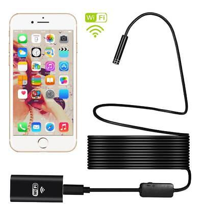 WiFi Endoscope Snake Inspection Camera Borescope HD Cell Phone Android iOS
