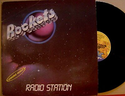 """ROCKETS radio station/star vision ITALY 12"""" 45 ROCKLAND 82ºSPACE COSMIC DISC TH"""