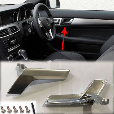 Mercedes W204 Interior Door Handle Chrome Plated Right Side Uk Driver Side