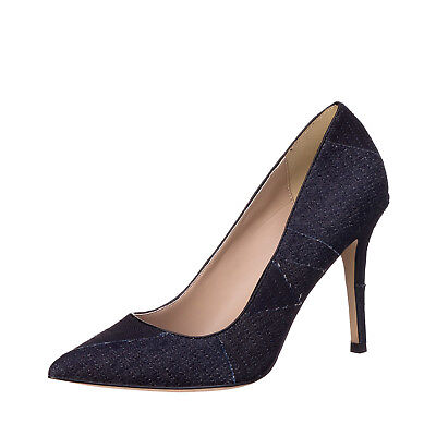 New Womens Court Shoes DIESEL Heeled Denim Size 39 / UK 6 OFFBEAT PATCH RRP €150