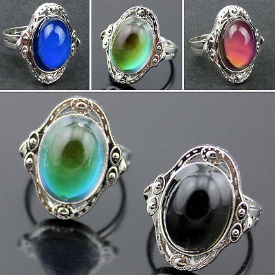 1pcs Mood Ring Adjustable Changing Color Temperature Control Jewelry Women NT