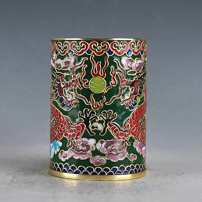 Chinese  Cloisonne Hand-made Dragon Brush Pots JTL1001