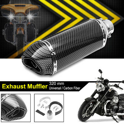 38-51mm Universal Motorcycle Carbon Fiber Exhaust Muffler Pipe Removable Silence