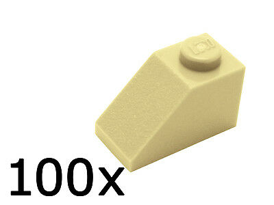 LEGO 1x2 45° Roof Tiles Tan---Lot of 10