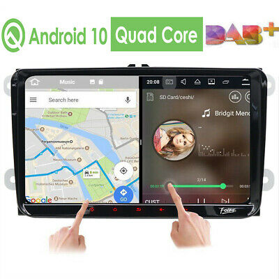 "9""Android-8.1 GPS Nav Autoradio HD DAB+ For VW Passat Seat Golf 5 6 Jetta Touran"