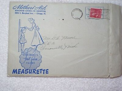 1949 Mother's Aid Growth Chart  Measurette Chicago Lying-in Hospital