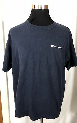 998f8dd9 VTG Champion T Shirt Spell Out Script Yellow Large 80's 90's Vintage Size XL  D06