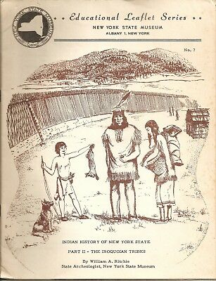1953 New York State Museum Indian History of NY Iroquoian Tribes Booklet