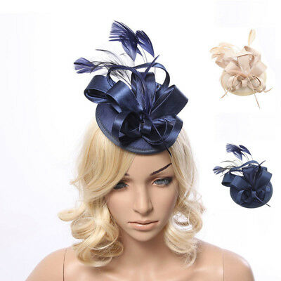 Large Hat Feather Fascinator Hat Clip Hatinator Veils Wedding Race Royal Ascot
