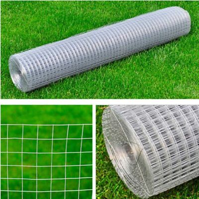 25m Garden Plant Fence Chicken Aviary Rabbit Cage Safety 19 sq mm Wire Net Mesh