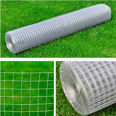 25m Garden Plant Fence Chicken Aviary Rabbit Cage Safety 12 sq mm Wire Net Mesh