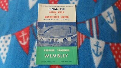 1957 Aston Villa V Manchester United Fa Cup Final