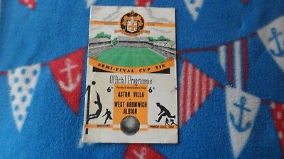 56/57 Aston Villa V West Bromwich Albion Fa Cup Semi Final At Wolves