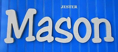"""Unpainted Wooden Wall Letters 6"""" size Home Decor Kids Room Baby Nursery Jester"""